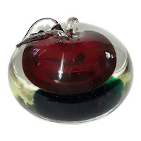 Murano Glass Apple By Cenedese