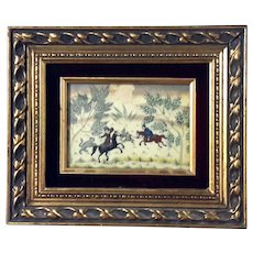 Framed Anglo-Indian Painting