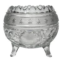 Antique Cut Glass Footed Rose Bowl