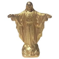 Gilt Metal Figure Of Jesus