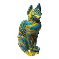 Mid-Century Italian Mancioli Bagni Pottery Cat