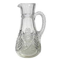 Early American Pattern Glass Pitcher