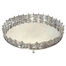 Wallace Silverplate Footed Gallery Tray