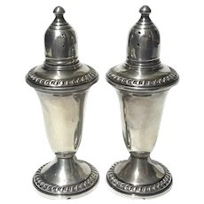 Pair Of Empire Sterling Silver Salt & Pepper Shakers