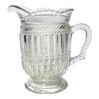 Early American Pattern Glass Juice Pitcher