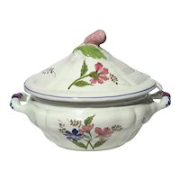 Italian Cantagalli Firenze Faience Pottery Soup Tureen With Ladle