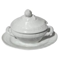Richard Ginori Miniature Tureen Condiment Jar
