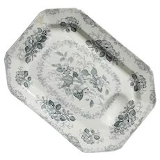 19th Century Large William Ridgway Apple Blossom Platter