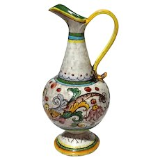 Italian Deruta Pottery Pitcher