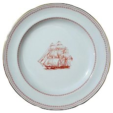 Spode Trade Winds Red Salad Plate