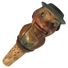 Black Forest Figure Cork Bottle Stopper