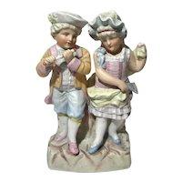 Antique Large German Bisque Porcelain Figural Group
