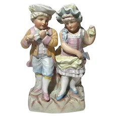 Antique Large German Bisque Porcelain Figural Group
