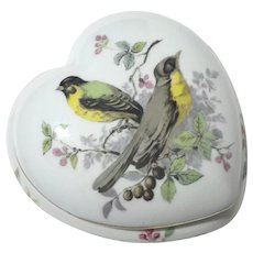 French Limoges Porcelain Heart Box