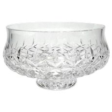 Irish Waterford Crystal Lissadel Pedestal Bowl