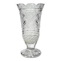 Early Vintage Signed Irish Waterford Crystal Vase