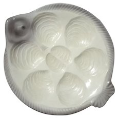West German Fish Shaped Oyster Plate By WAECHTERSBACH Pottery