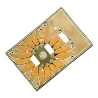All Fired Up Pottery Sunflower Triple Switch Plate Cover
