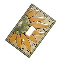 All Fired Up Pottery Sunflower Single Switch Plate Cover