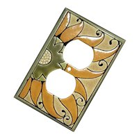 All Fired Up Pottery Sunflower Double Outlet Cover
