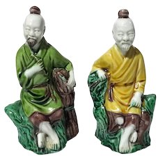Pair Of Chinese Pottery Figures