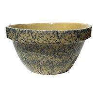 Signed Robinson Ransbottom Sponge Decorated Yelloware Bowl