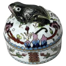 Chinese Cloisonne Frog Box