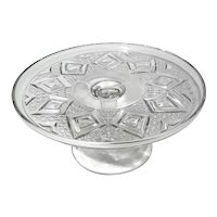 Early American Pattern Glass Triple Mold Cake Stand