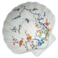 French Limoges Porcelain Scallop Shell Bowl