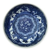 Japanese Blue And White Porcelain Bowl
