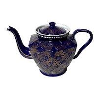 19th Century Elite Czechoslovakian Cobalt Blue Enamel Teapot
