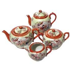 Japanese Kutani Porcelain Tea Set