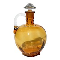 Mid-Century Modern Vintage Glass Decanter