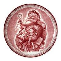 Wedgwood Porcelain Saint Nick Plate