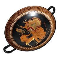 Greek Amphora Pottery Pedestal Bowl