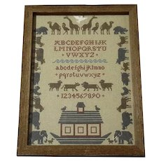Noah's Ark Needlework Sampler