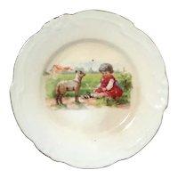 German Children's Porcelain Plate