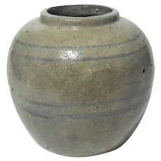 18th Century Chinese Stoneware Ginger Jar