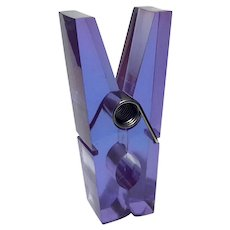 Giant Lavender Lucite Clothespin