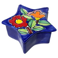 La Musa Italian Pottery Star Box