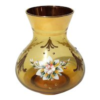 Venetian Glass Vase With Gold And Enamel Decoration