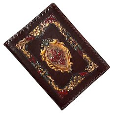 Italian Embossed Leather Book Cover