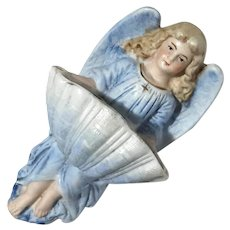 Bisque Porcelain Angel Holy Water Font