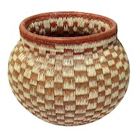 Finely Woven Pomo Native American Basket