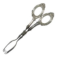 Web Sterling Silver Handled Pastry Tongs