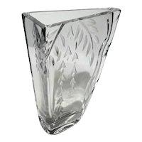 Vintage Rogaska Slovenia Cut Crystal Vase
