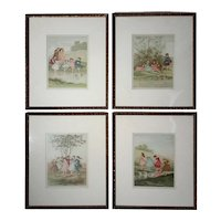 Set Of Four Framed Children's Illustrations