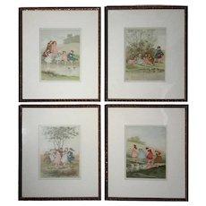 Set Of Four Framed Children's Illustrations