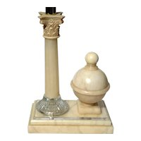 Italian Alabaster Column Lamp