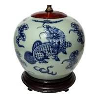 Antique Chinese Porcelain Ginger Jar Lamp